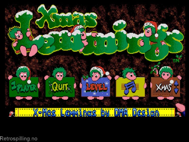 Holiday Lemmings '92 (X-mas Lemmings) - Amiga