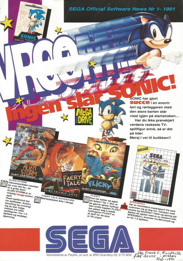 Sega News nr. 1-1991