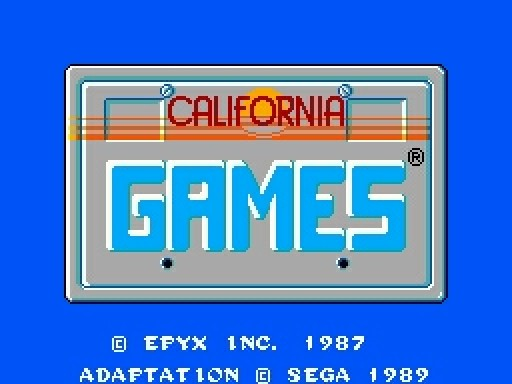 California Games (Sega Master System, 1989)