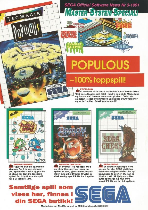 Sega News nr.3-1991