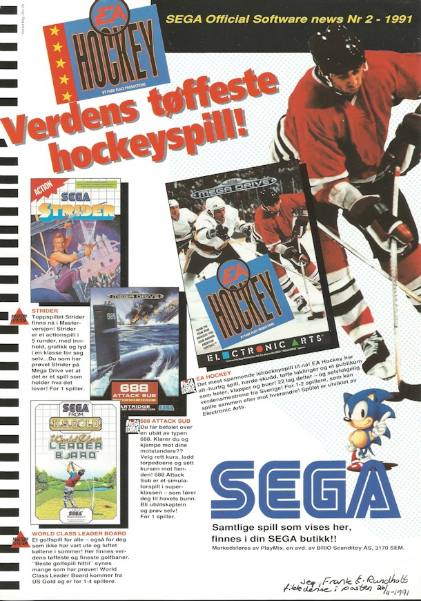 Sega News nr. 2 - 1991