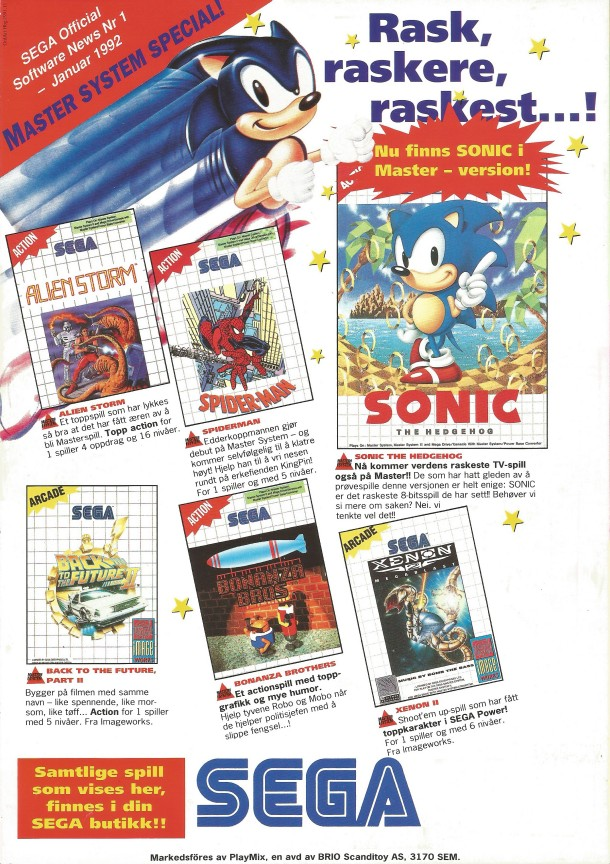 SEGA Official Software News nr. 1 – 1992
