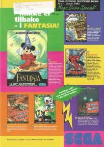 SEGA Official Software News nr. 1 – 1992