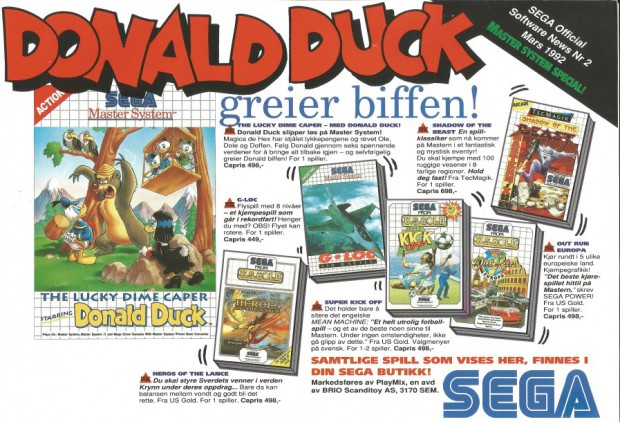 SEGA Official Software News nr. 2 – 1992