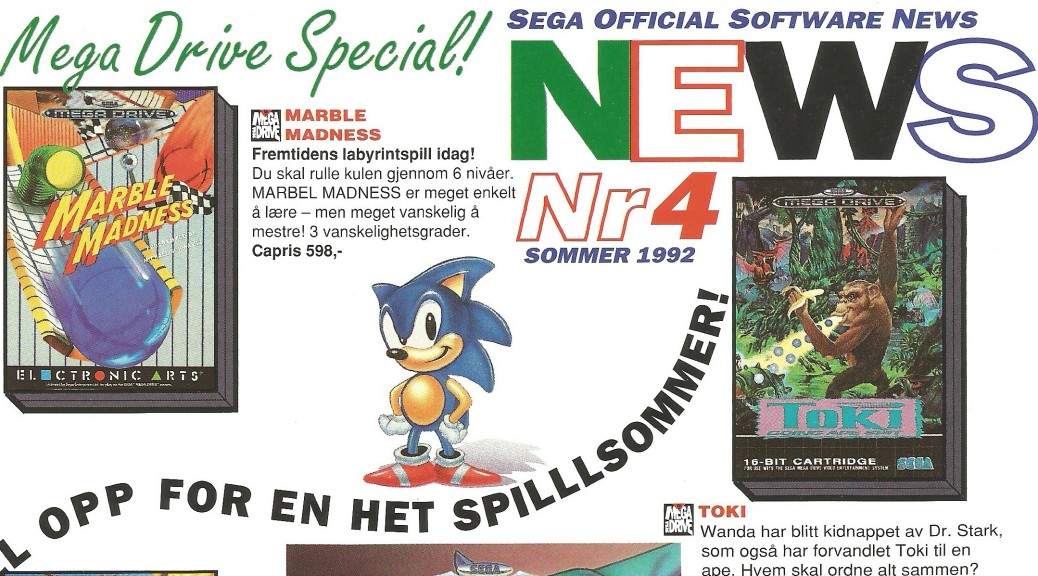 SEGA Official Software News nr. 4 – 1992