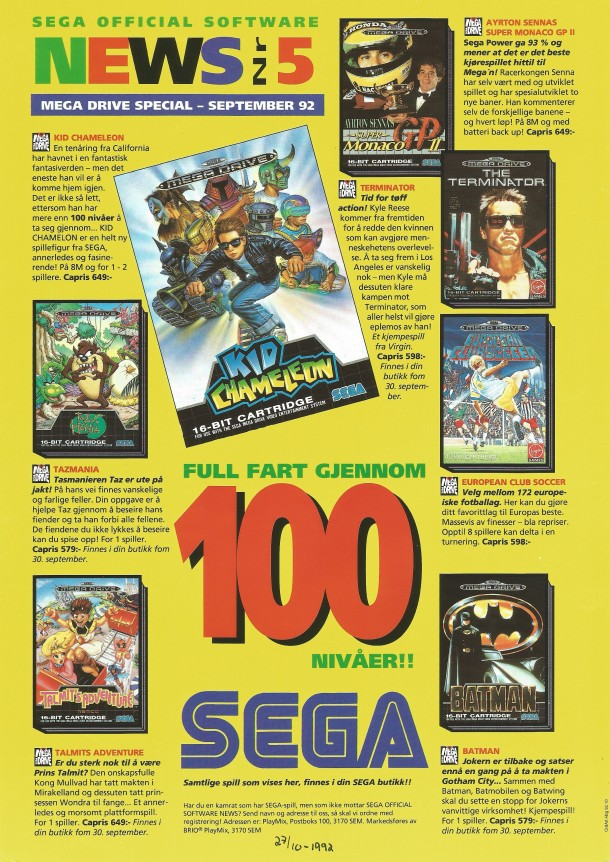 SEGA Official Software News nr. 5 – 1992