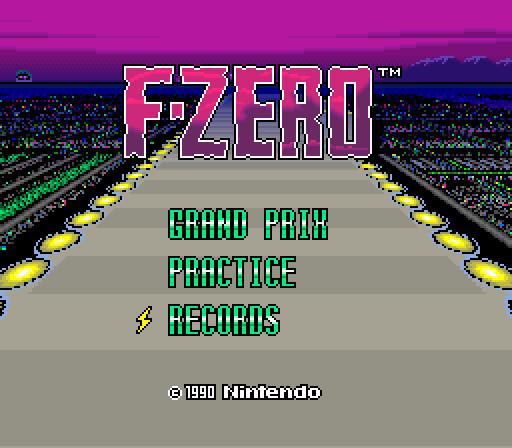 F-Zero (SNES, 1990)