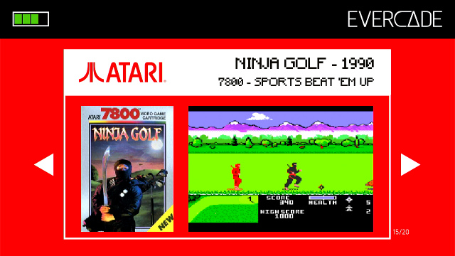 Evercade 1 - Atari Collection 1 - Ninja Golf