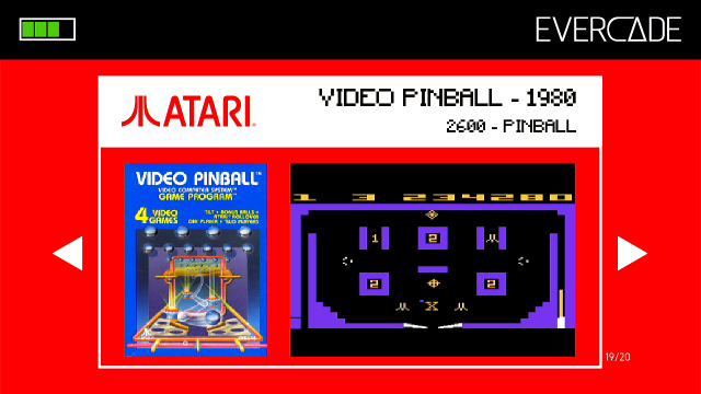 Evercade 1 - Atari Collection 1 - Video Pinball