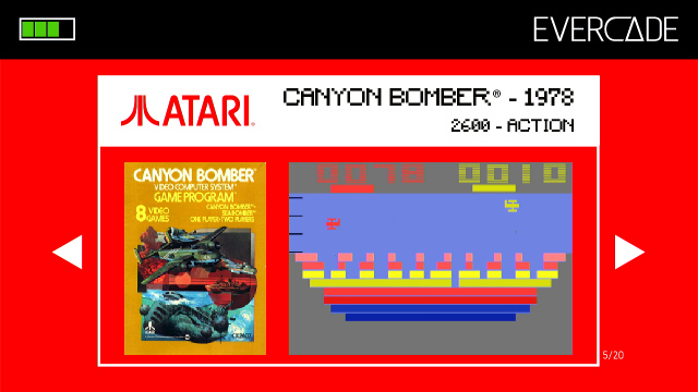 Evercade 1 - Atari Collection 1 - Canyon Bomber