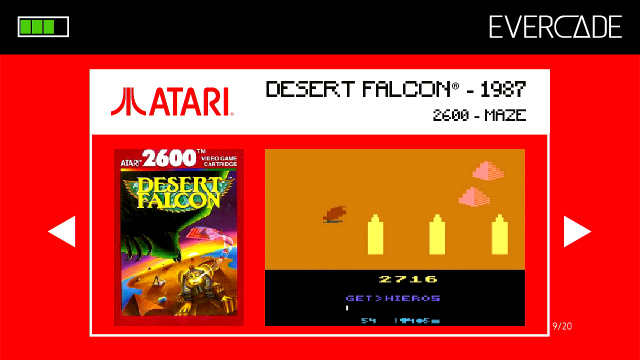 Evercade 1 - Atari Collection 1 - Desert Falcon
