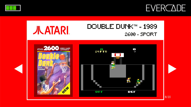 Evercade 1 - Atari Collection 1 - Double Dunk
