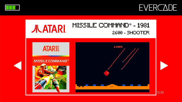 Evercade 1 - Atari Collection 1 - Missile Command