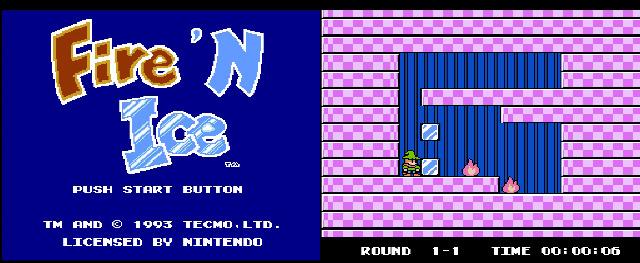 Fire 'N Ice (NES, 1993)