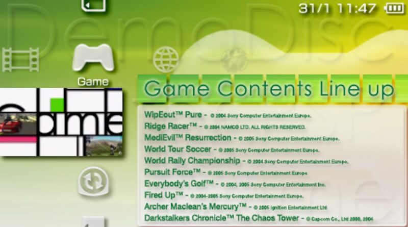 PSP demo disc vol. 1
