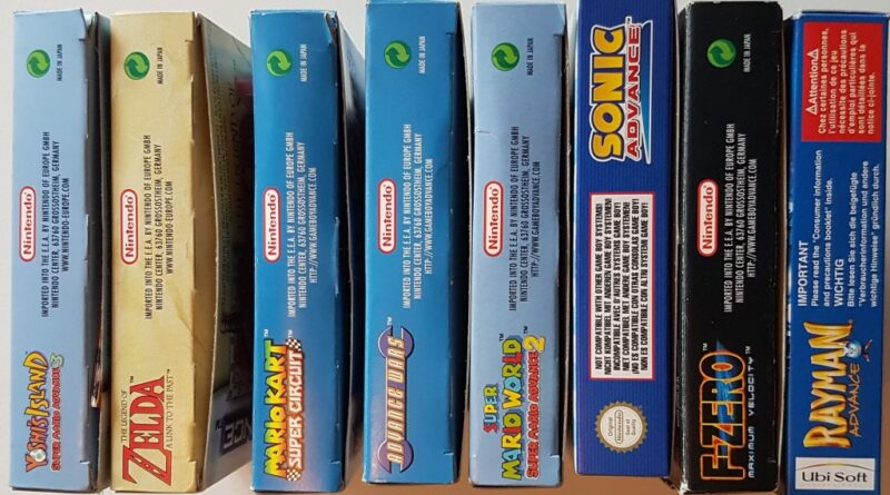 Game Boy Advance bokser