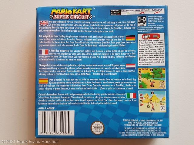 Game Boy Advance: Mario Kart Super Circuit