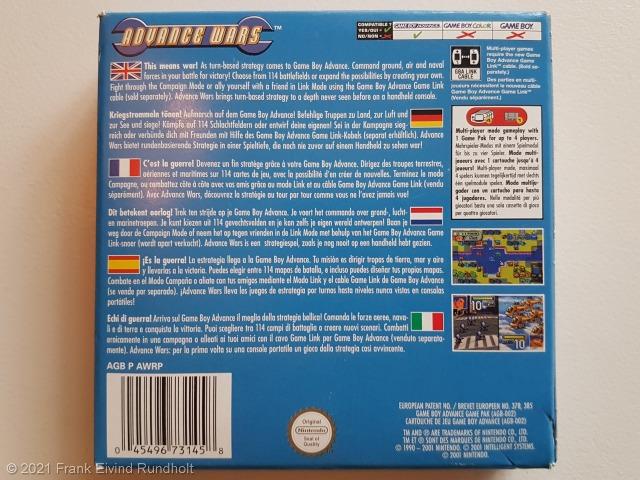 Game Boy Advance: Advance Wars