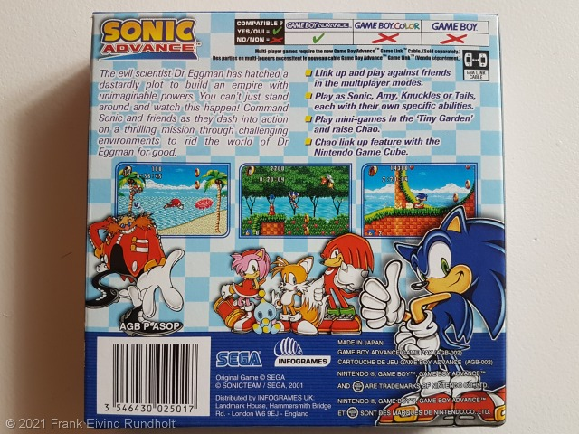 Game Boy Advance: Sonic Advance