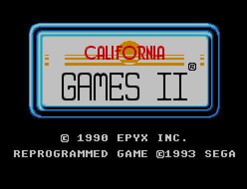 California Games II (Sega Master System, 1993)