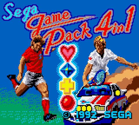 Sega Game Pack 4 in 1 (Game Gear, 1992)