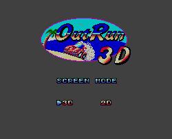 Out Run 3D (Sega Master System, 1989)